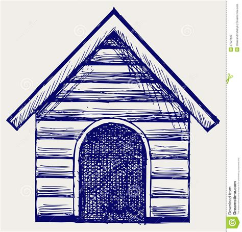 dog house sketch dog house doodle style stock photo image 27927630