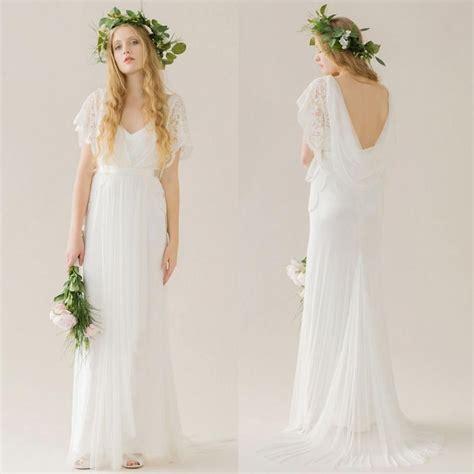 simple cheap wedding dresses short lace sleeves wedding