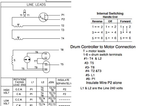 circuit diagram for connecting drum switch to