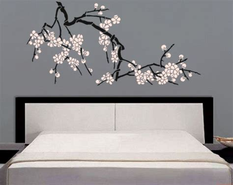japanese cherry blossom home decor stencil japanese cherry blossoms large branch stencil