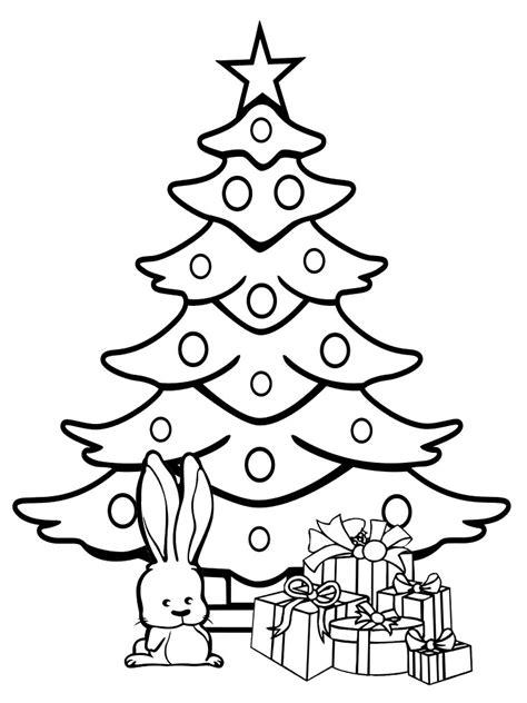 dibujos animados para colorear arbol de navidad para