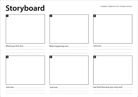 storyboard template really useful for mapping