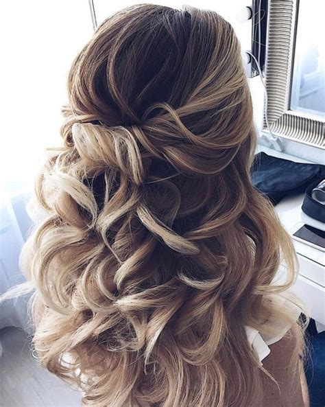 Wedding Hairstyles Updo For Hair by Partial Updo Wedding Hairstyles 2018 For Medium Hair