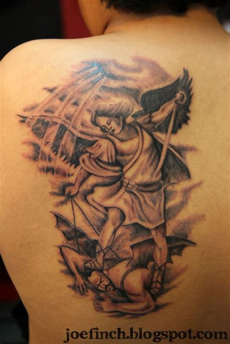 saint michael tattoo designs st michael back ideas tattoomagz