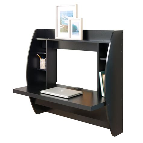 Wall Mount Floating Computer Desk Storage Shelves Home Laptop Storage Desk