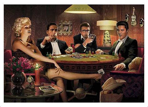legends playing poker    kind art print poster