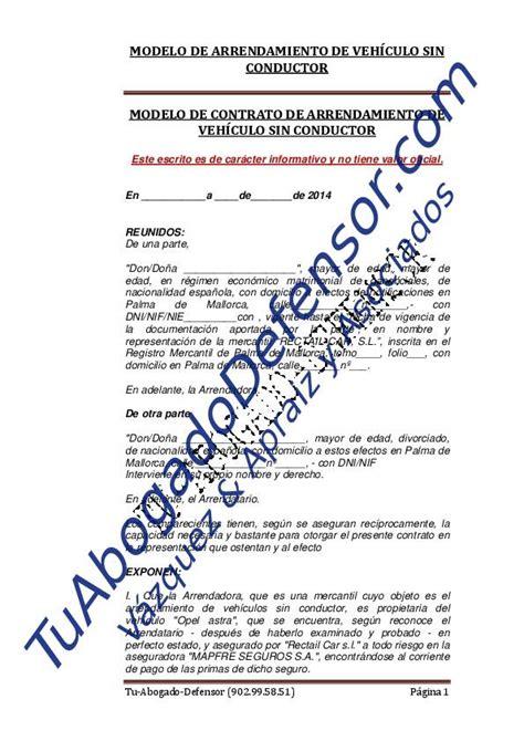 limite en arrendamiento de vehiculos 2016 modelo contrato arrendamiento vivienda 2015 download pdf