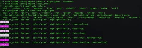 python print color python print in terminal with colors stack overflow