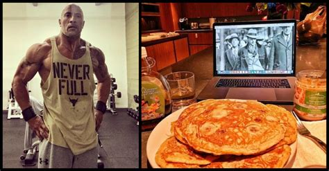 dwayne the rock johnson cheat day food dwayne johnson s cheat meal could feed an entire family