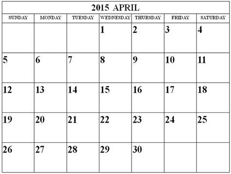 printable calendar april to december 2015 image gallery month of april 2015 calendar