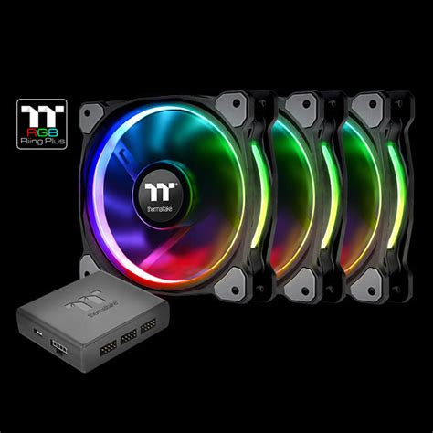 Thermaltake Riing 12 Rgb Radiator Fan Tt Premium 3pack riing plus 14 rgb radiator fan tt premium edition 3 fan