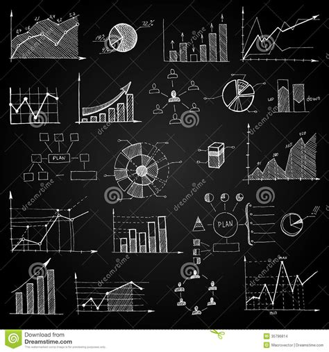 free doodle board chalk board doodle web charts stock images image 35796814