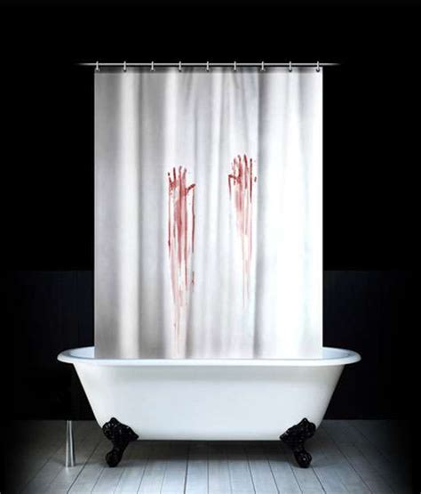 bloody shower curtain and bath mat bloody bathroom accessories these pieces turn your shower into a murder