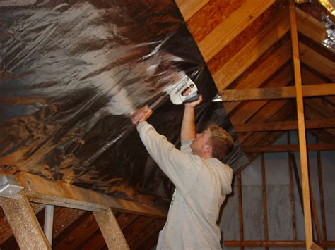 Reflective Paint Vs Foil Attic Foil Radiant Barrier | blocktheheat com radiant barrier foil do it yourself