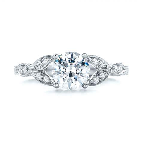 tri leaf engagement ring 101989