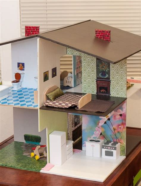 homemade doll house 25 best ideas about cardboard dollhouse on pinterest recycle cardboard box doll