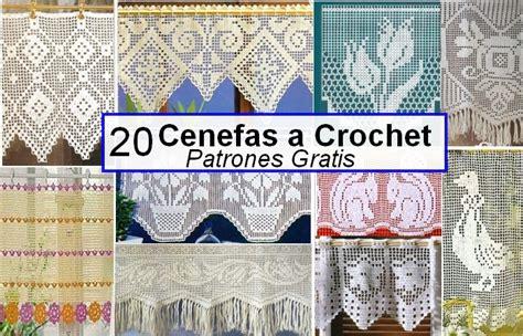 cortinas de ganchillo patrones gratis cenefas a crochet patrones gratis manualidades y