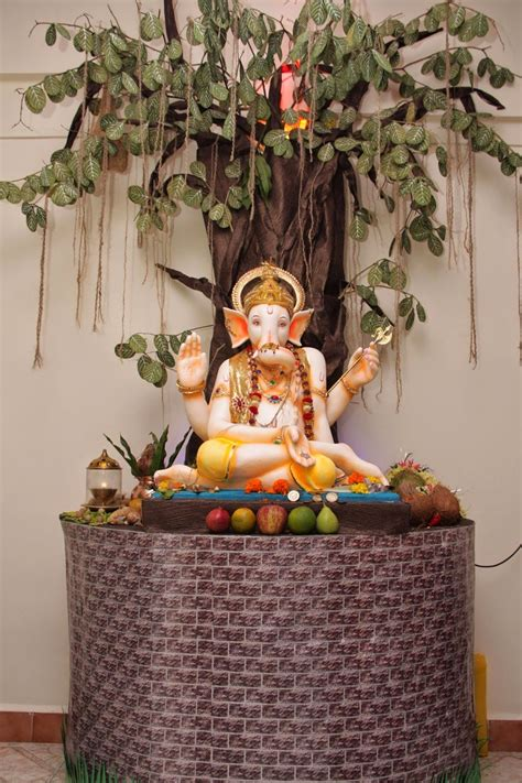 ganpati decoration at home eco friendly ganesh eco friendly decorations ideas