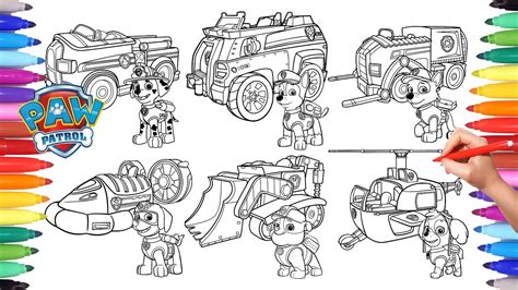 paw patrol vehicles coloring pages paw patrol vehicles coloring pages for kids how to