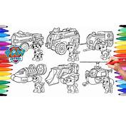PAW PATROL  VEHICLES Coloring Pages For Kids How To