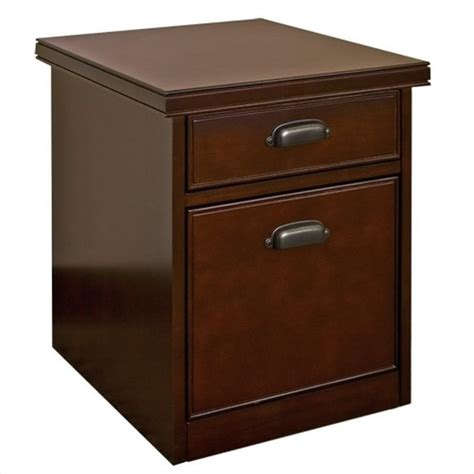 Kathy Ireland Home By Martin Tribeca Loft 2 Drawer Mobile Cherry Wood Filing Cabinet