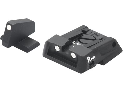 sw mp adjustable rear sight lpa sps adjustable sight set s w m p steel white dot