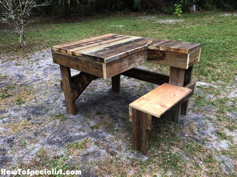 diy shooting bench diy recycled wood shooting bench howtospecialist how to build step by step diy plans