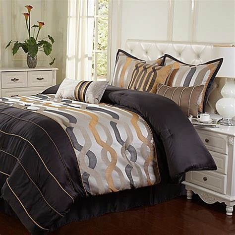 bed bath and beyond rockford stratford park rockford 7 piece comforter set in grey