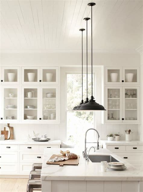 Black Kitchen Light Fixtures Smaller Doses Of Black In The Kitchen Centsational