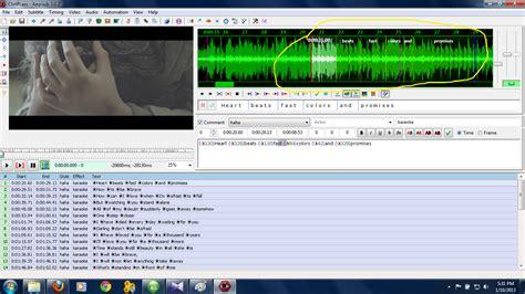 membuat video karaoke sendiri tutorial membuat efek karaoke menggunakan aegisub