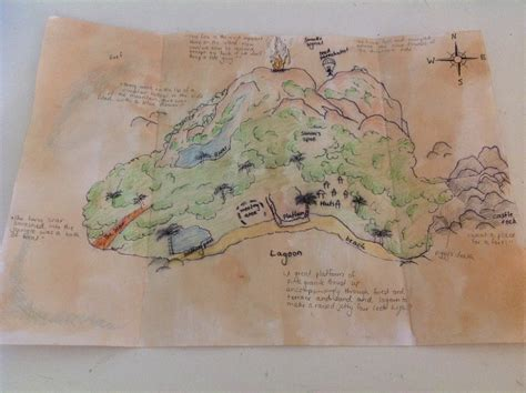 as the flies map lord of the flies island drawing at getdrawings free
