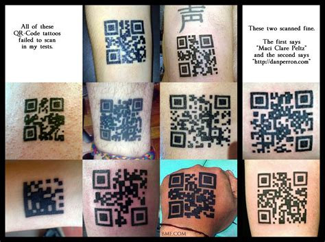 qr code tattoo a new qr code every day see qr codes in at