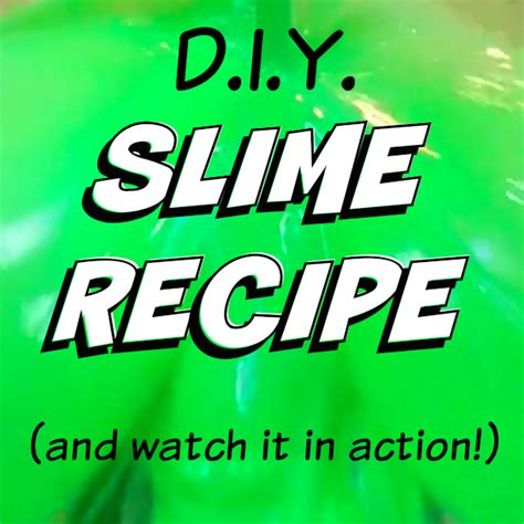 tattoo goo recipe how to have fun with kids green slime recipe and slime
