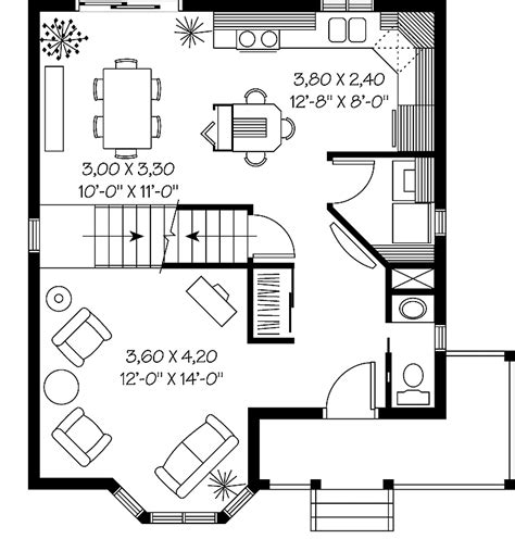 bay window floor plan two story bay window hwbdo05810 victorian house plan