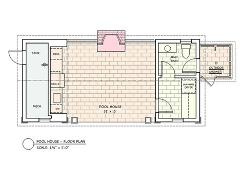 pool houses floor plans floor plans pool house htons pinterest pool