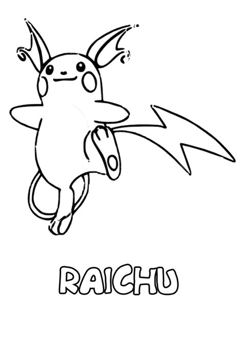 pokemon coloring pages of raichu pokemon coloring pages for kids printable 2017 calendar