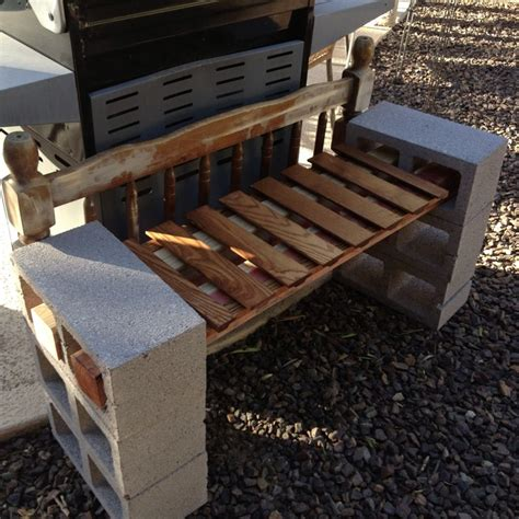 concrete block bench 18 best images about outdoor shelves on pinterest cinder block shelves twin