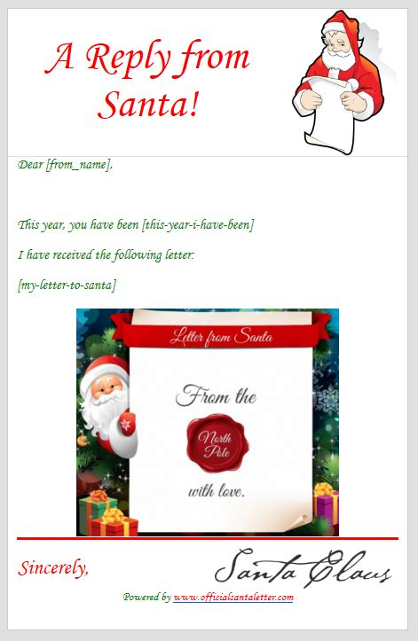 Official Santa Letter Philly Techies Free Santa Reply Letter Template