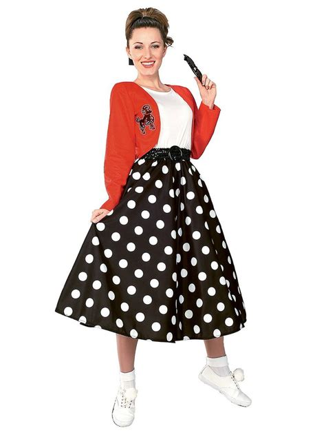 adult 50s costumes mens and womens 50s costume ideas polka dot rocker adult costume adult costumes 50s