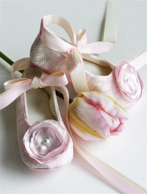 ballet flower shoes pink lace flower shoes baby ballet slipper toddler