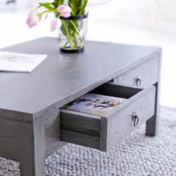 Gray Wood Coffee Table Tikamoon Solid Mindi Square Coffee Table Grey Paint 110x60cm 4 Drawers New Ebay