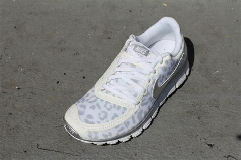 nike white and silver leopard sneakers provincial