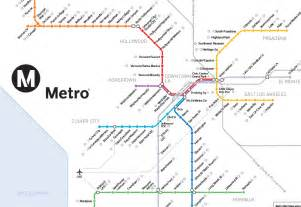 La Metro System Map by Los Angeles Metro Rail Map Commonground Creative