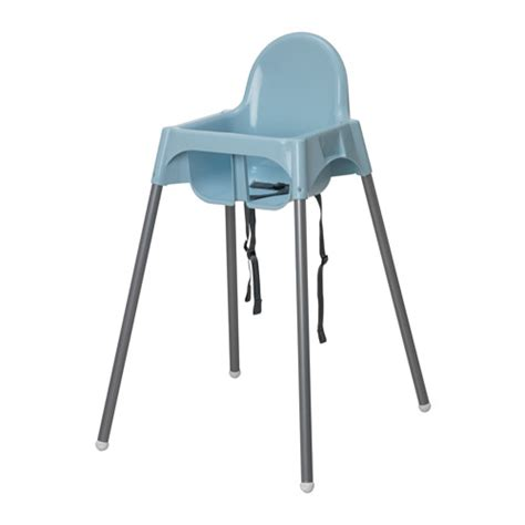Ikea Antilop antilop highchair with safety belt light blue silver colour ikea