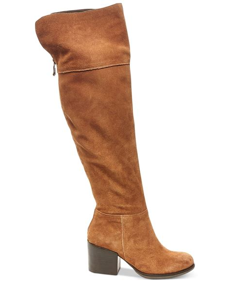 steve madden s boots steve madden s orabela the knee boots in brown