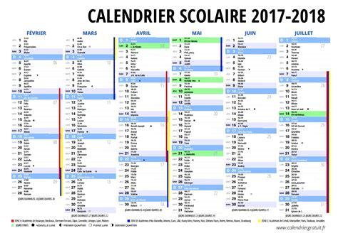 Calendrier Vacances 2017 2018 Le Calendrier Scolaire 2017 2018 224 Imprimer Du