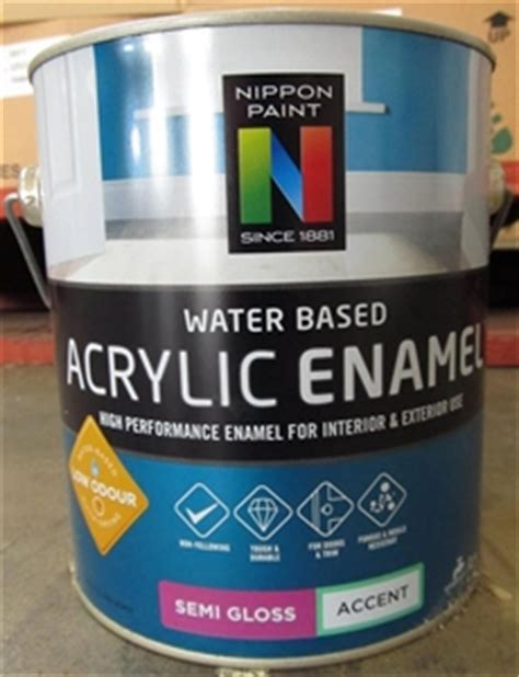 acrylic paint is it water based 4x2l nippon paint water based acrylic enamel semi gloss