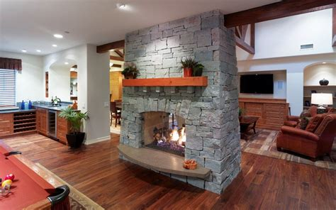 two room fireplace 20 gorgeous two sided fireplaces for your spacious homes