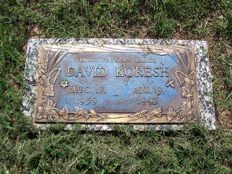 Diana Grave david koresh plaque marker