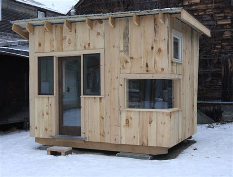 Building A 8x12 Shed by Reclaimed Tiny House Built By Students